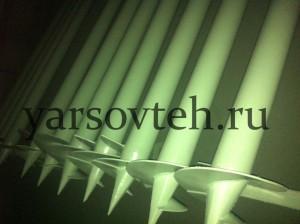 Винтовые сваи под навес из поликарбоната