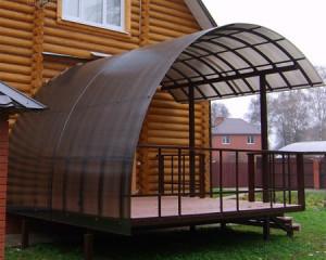 Навес из поликарбоната для террасы