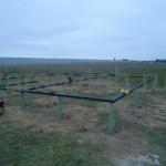 Обвязка свайного поля швеллером Ш14-1