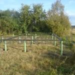 Фундамент на винтовх сваях с обвязкой швеллером-1