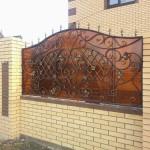 кирпичный забор 4