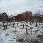 Винтовые сваи зимой