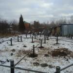 Винтовой фундамент зимой