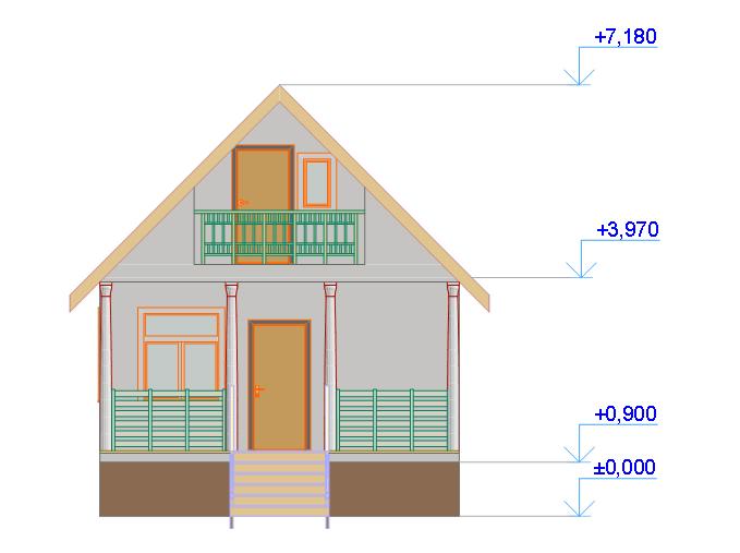 Как сделать балкон на двухскатной крышей